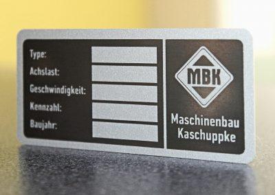 Typenschild | Aluminium | Lasergravur