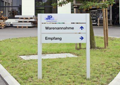 J+P Maschinenbau | Wegeleitsystem