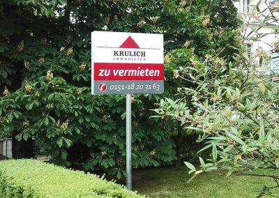 Immobilien Krulich | Werbeschild