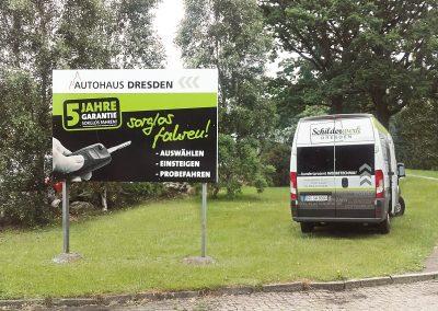 Autohaus Dresden | Werbeschild