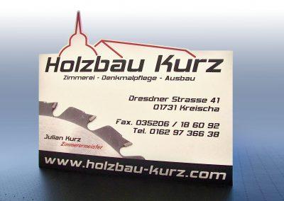Holzbau Kurz | Werbeschild