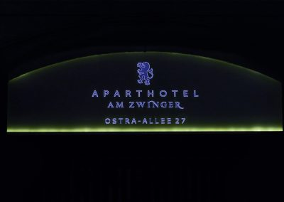 Aparthotel am Zwinger | Lichtwerbung