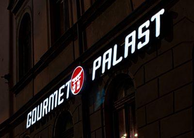 Gourmet Palast | Lichtwerbung