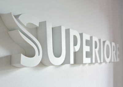 Superiore | 3D-Buchstaben