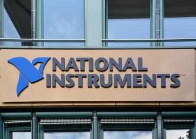 National Instruments | Werbeschild | 3D-Buchstaben