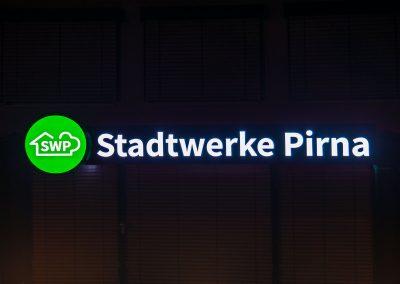 Stadtwerke Pirna | Lichtwerbung