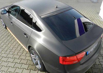 Audi A5 | Vollfolierung schwarzgebürstet + Scheibentönung