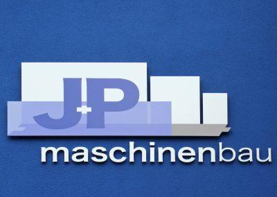 J+P Maschinenbau | 3D-Buchstaben | Werbeschild