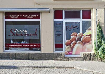 Schokowerk | Schaufensterwerbung