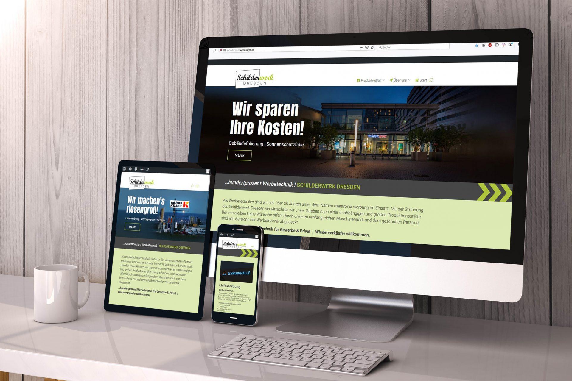 Schilderwerk Dresden | Webseiten | Responsive Design
