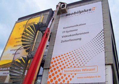 Mobilplus | Höhenmontage | Fassadeninstallation