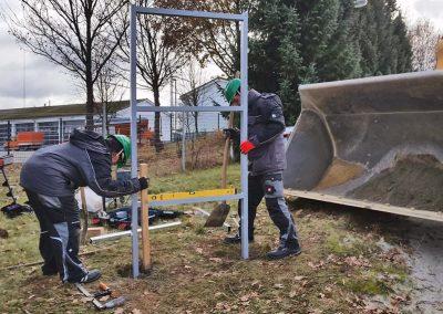 Schwenk Beton | Werbeschild | Betonierung