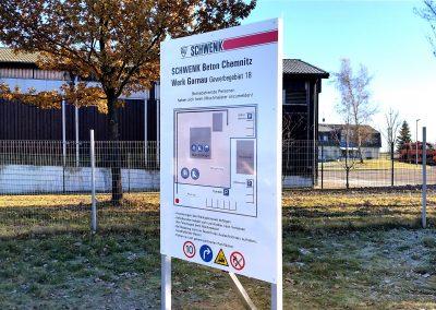 Schwenk Beton | Werbeschild