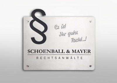 Schoenball & Mayer | Metallschild | Edelstahl