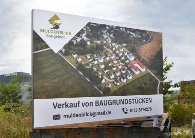 Muldenblick | Bauschild