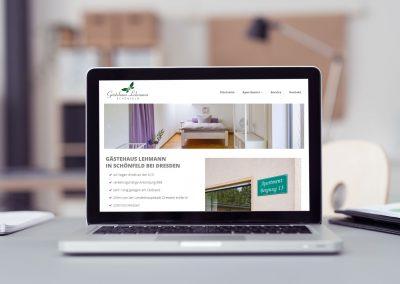 Gästehaus Lehmann | Webseite | Responsive Design