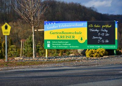 Baumschule Kreiser | Werbeschilder & Planen