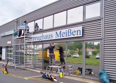 Fahrzeughaus Meißen | Gebäudefolierung | Sonnenschutzfolie