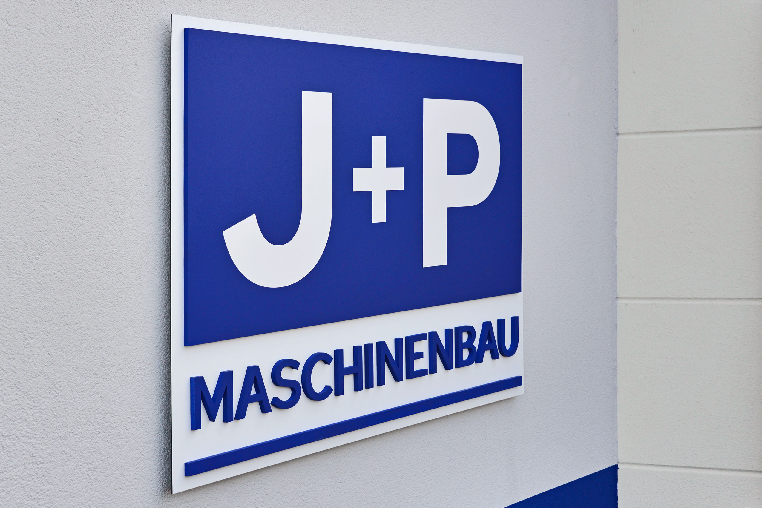 J+P Maschinenbau | Werbeschilder